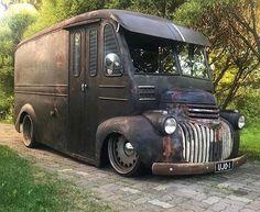 pictures of rat rod trucks Ford Classic Cars, Classic Chevy Trucks, 72 Chevy Truck, Cool Trucks, Big Trucks, Rat Rod Trucks, Dodge Trucks, Automobile, Step Van