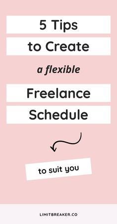 You can create a flexible freelance schedule for your business. In fact, it's easy to do with these 5 tips. #freelancetips #freelance #dailyroutine #workfromhome #remoteworking Time Management Techniques, Time Management Strategies, Business Planning, Business Tips, Online Business, Make Money Blogging, Way To Make Money, How To Get Clients, Introvert Problems