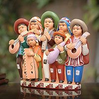 The Colors of Peru: Dionisio Rojas crafts colorful ceramic figurines depicting traditional Peruvian life.