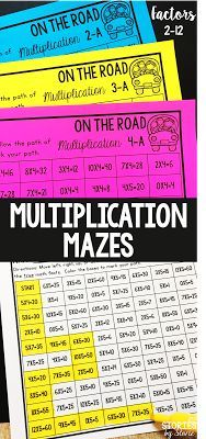 Math fact practice is so much fun when you get to use highlighters, markers, and daubers, right? These multiplication mazes will get your students practicing their math facts in a fun way while using a critical eye. Multiplication Facts, Math Facts, Math Fractions, Fun Math, Math Activities, Maths, Math Fact Practice, Math Classroom, Classroom Ideas