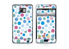 Color Dots Case designed for Galaxy S2 #dots #colorful #samsungcase #galaxys2case #ultraskin #ultracase