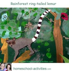Fun rainforest kids crafts and ideas. Make a bromeliad from a pineapple, set up a terrarium for carnivorous plants and create a rainforest scene. More fun activities from one of the very few second generation homeschooling families. www.homeschool-activities.com/homeschool-science.html