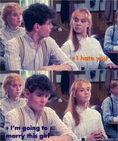 Anne of Green Gables :)<< Probably exactly what he thought. She didn't like him because of his looks. Always marry those girls, guys, ALWAYS.