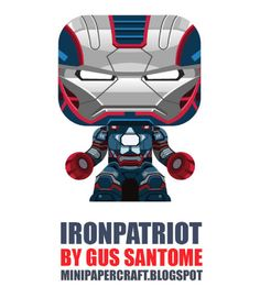 Iron Patriot by Gustavo Santome Avec ce nouveau modèle Iron Patriot du papertoys maker Gus Santome la boucle est bouclée. Après le Mark 42 et les 10 autres armures composant cette série de Mini Papercrafts, c'est donc la version gouvernementale (mix d'Iron Man et de Captain America) qui nous est proposée. Un 1748ème jouet en papier gratuit à télécharger… http://www.paper-toy.fr/2013/05/16/iron-patriot-by-gustavo-santome/ #papertoys #papercraft #paper #arts #toys #Marvel #DIY