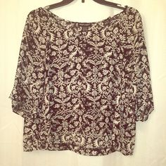 Cropped shirt Never wore it! Brand new, no tags. Tops