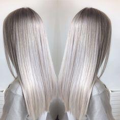 Silver hair, blonde hair, highlights