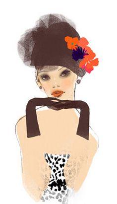 Fashion Illustration by Toko Ohmori.