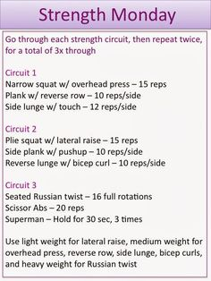 Full Body Circuit Workout with Weights
