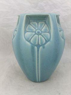 1932 Rookwood Pottery Crystalline Flower Vase,Blue, 2330