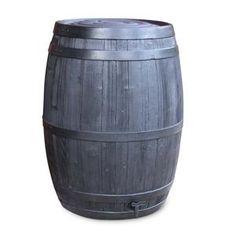 235 Litre/52 Gallon Black Oak Effect Water Butt
