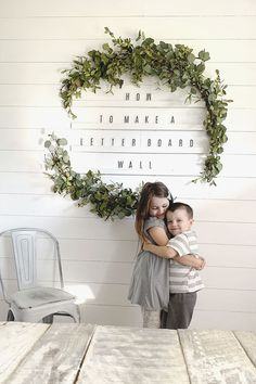 homedecor diy wall decor How To Make An Oversized Letter Board Wall DIY Giant Holiday Wreath Diy Letter Board, Diy Letters, Diy Wall Decor, Diy Home Decor, Bedroom Decor, Letter Wall Decor, Creative Wall Decor, Home Decor Quotes, Art Decor