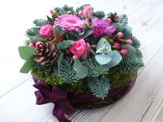 bloemen taart voor op de tafel