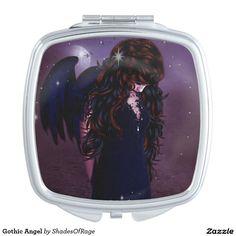 #Gothic #Angel #dark #depression #depressed #zazzle #customize #customise #compactmirror #mirror