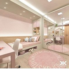 Small kids room ideas for girls bedrooms pink 20 Ideas Room Design Bedroom, Girl Bedroom Designs, Home Room Design, Room Ideas Bedroom, Small Room Bedroom, Bedroom Decor, Pink Bedroom For Girls, Girl Rooms, Cute Room Decor