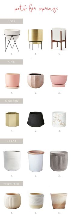 a roundup of pots for your spring houseplants!   coco kelley