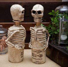 Potter frenchy party - Inspiration : la bouteille de Poussos / Skele-gro potion - hogwarts - harry potter - diy