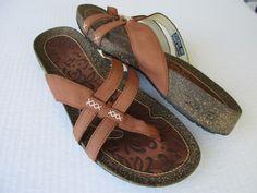 Teva women sandals size 10 Brown Leather Thong #Teva #Slides #Casual