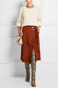 Sam Edelman | Rylan snake-effect leather over-the-knee boots | NET-A-PORTER.COM