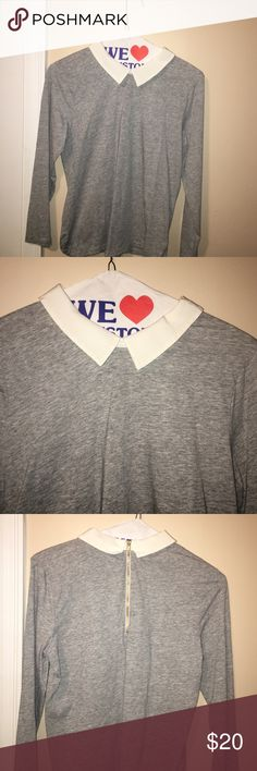 Jcrew Peter Pan top Jcrew top worn once. In great condition size small J. Crew Tops Tees - Long Sleeve