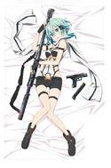 Sword Art Online Sinon Cloth Poster