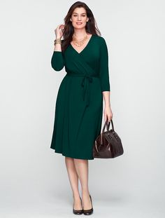 Browse our modern classic selection of women's clothing, jewelry, accessories and shoes. Talbots offers apparel in misses, petite, plus size and plus size petite. Plus Size Dresses, Plus Size Outfits, Dresses For Work, Snappy Casual, Wrap Dress, Dress Up, Talbots, Plus Size Fashion, Plus Size Women