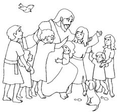 jesus loves me jesus loves children and jesus love me coloring page - Children Coloring