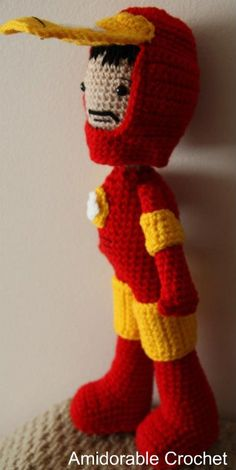 This Tony Stark amigurumi is not only adorable, it's also impressively detailed. Iron Man's mask flips up and his helmet comes off completely, revealing Tony's hair and facial hair. Maybe it's just me, but I'd love to see a picture of Robert Downey hanging out with this litttle guy.Link...