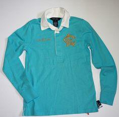 NWT Ralph Lauren Girls Long Sleeves Rugby Cotton Shirt Top Size S 7 #RalphLauren #Everyday