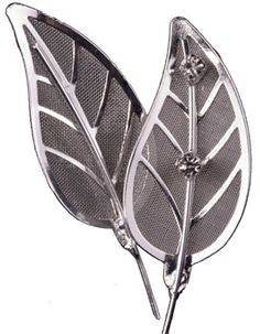 These metal leaves add extra glamour to a corsage or boutonniere but aren't too glittery