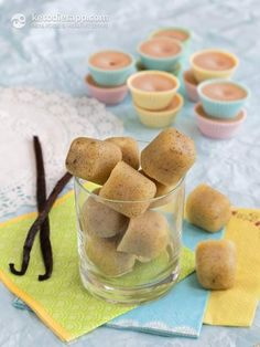 Easy Vanilla Fat Bombs: low-carb, paleo, keto, + vegan option, less than 1 g net carbs and suitable for fat fast!