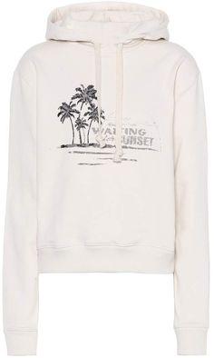 Saint Laurent Printed cotton hoodie. Cotone StampatoSaint LaurentStampeFelpe  Con CappuccioVintageCome ... d02fb567c50