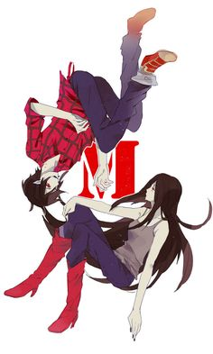 adventure time, marshall lee, marceline