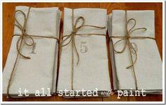 drop cloth napkins