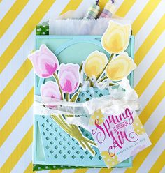 Tulip Basket Treat Bag by Danielle Flanders for Papertrey Ink (February 2016)