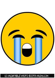 Weeping Emoji Photo Booth Prop