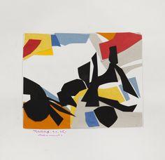 René Roche (1932-1992)  Composition, circa 1975-76  Dix collages sur papier  50 x 65 cm.