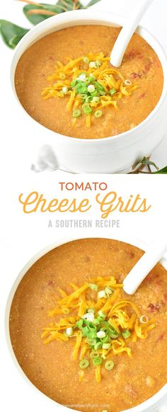 This hearty and flavorful recipe for Tomato Cheese Grits is so perfect for… Brunch Recipes, Breakfast Recipes, Dinner Recipes, Cheese Dishes, Tasty Dishes, Vegetarian Recipes, Cooking Recipes, Healthy Recipes, Healthy Food