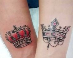 Crown Tattoo is a meaningful design that is fit for all sexes. See our 80 Crown Tattoo Designs with images and symbolic crown tattoo ideas for queen, king, princess, and more royalty-inspired crown tattoos for men and women. Tatoo Crown, Queen Crown Tattoo, King Queen Tattoo, Crown Tattoo Design, Sexy Tattoos, Tattoos Skull, Tattos, Garter Tattoos, Rosary Tattoos