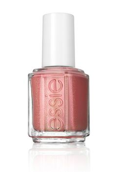 Pretty in pink nail polish with flecks of gold glitter! Essie's All Tied Up.