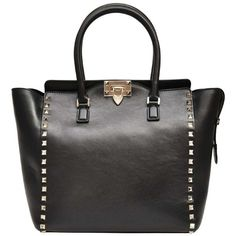 Valentino Rock Stud leather bag ($1,359) ❤ liked on Polyvore