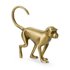 Brass Walking Monkey Sculpture #williamssonoma
