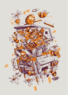 stom 500 on Behance Poster Art, Design Poster, Design Art, Illustration Fantasy, Graphic Design Illustration, Digital Illustration, Character Art, Character Design, Arte Indie