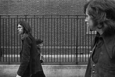 """Neil Young and Graham Nash. You may recognize this from the cover of """"After The Gold Rush."""""""