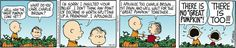 Peanuts... Linus and Charlie Brown wait for the Great Pumpkin.