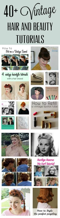 40+ vintage hair and beauty tutorials from the 1920s-1960s from Va-Voom Vintage