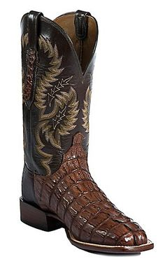 Lucchese® Cowboy Collection™ Mens Cigar Giant Croc Tail Exotic Square Toe Boot | Cavenders Boot City