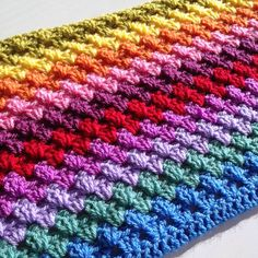 Crochet Granny Squares Blanket Start of the CAL granny stripe lap blanket Crafternoon Treats Granny Stripe Blanket, Crochet Square Blanket, Granny Square Crochet Pattern, Crochet Stitches Patterns, Crochet Granny, Baby Blanket Crochet, Lap Blanket, Blanket Patterns, Crochet Afghans