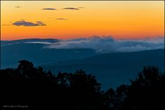 A Sunrise view from the Dickey Ridge area in Shenandoah National Park.