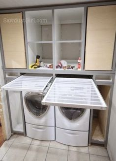Practical Home laundry room design ideas 2018 Laundry room decor Small laundry room ideas Laundry room makeover Laundry room cabinets Laundry room shelves Laundry closet ideas Pedestals Stairs Shape Renters Boiler Laundry Room Remodel, Laundry Closet, Laundry Room Organization, Laundry Room Design, Laundry In Bathroom, Organization Ideas, Laundry Drying, Storage Ideas, Storage Shelves