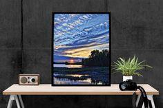 Sunset Print, Abstract Art Print, Home Decor, Modern Decor, Wall Art, Wall Decor, Photo, Print, Poster Print, Printable Instant download